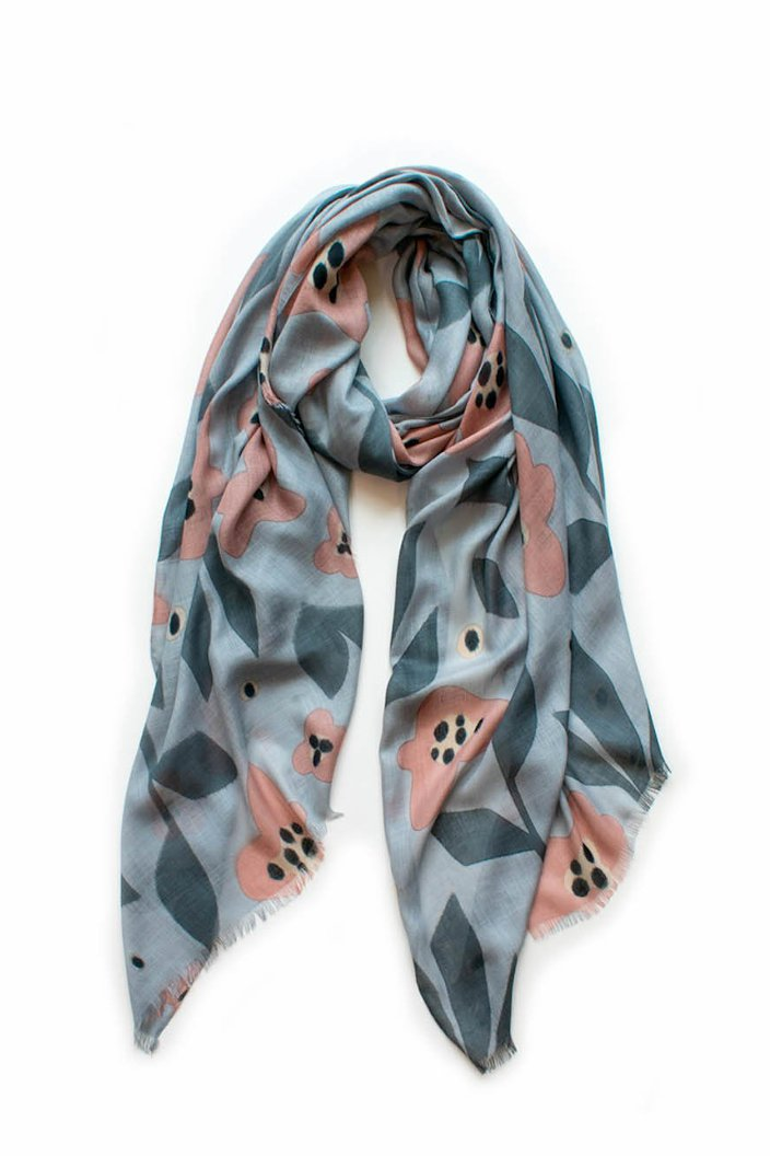 INDUS - BLOOM SCARF - DOLPHIN & BLUSH - Tempted Kensington