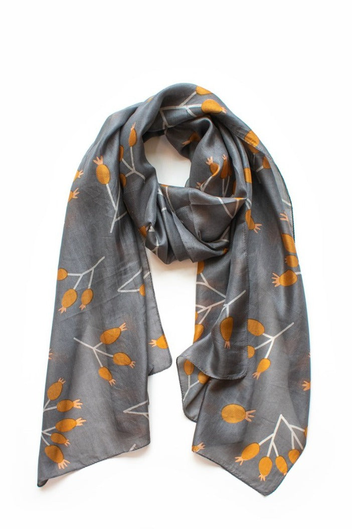INDUS - BUD SCARF - FLINT & CARAMEL - Tempted Kensington