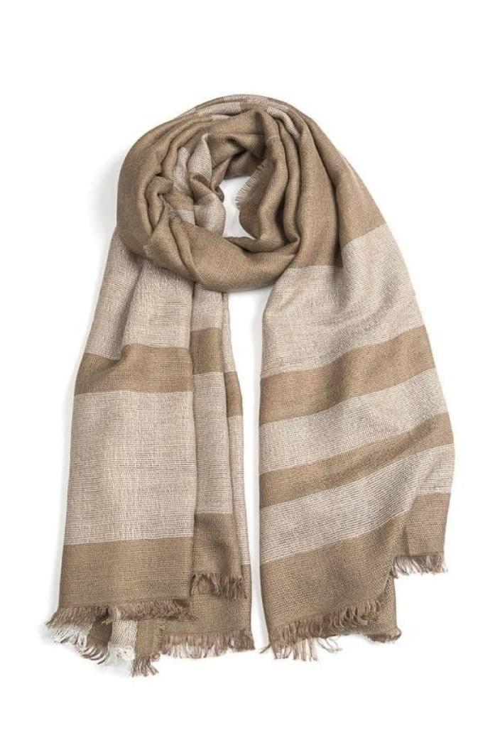 INDUS - CHECK SCARF - NATURAL - Tempted Kensington