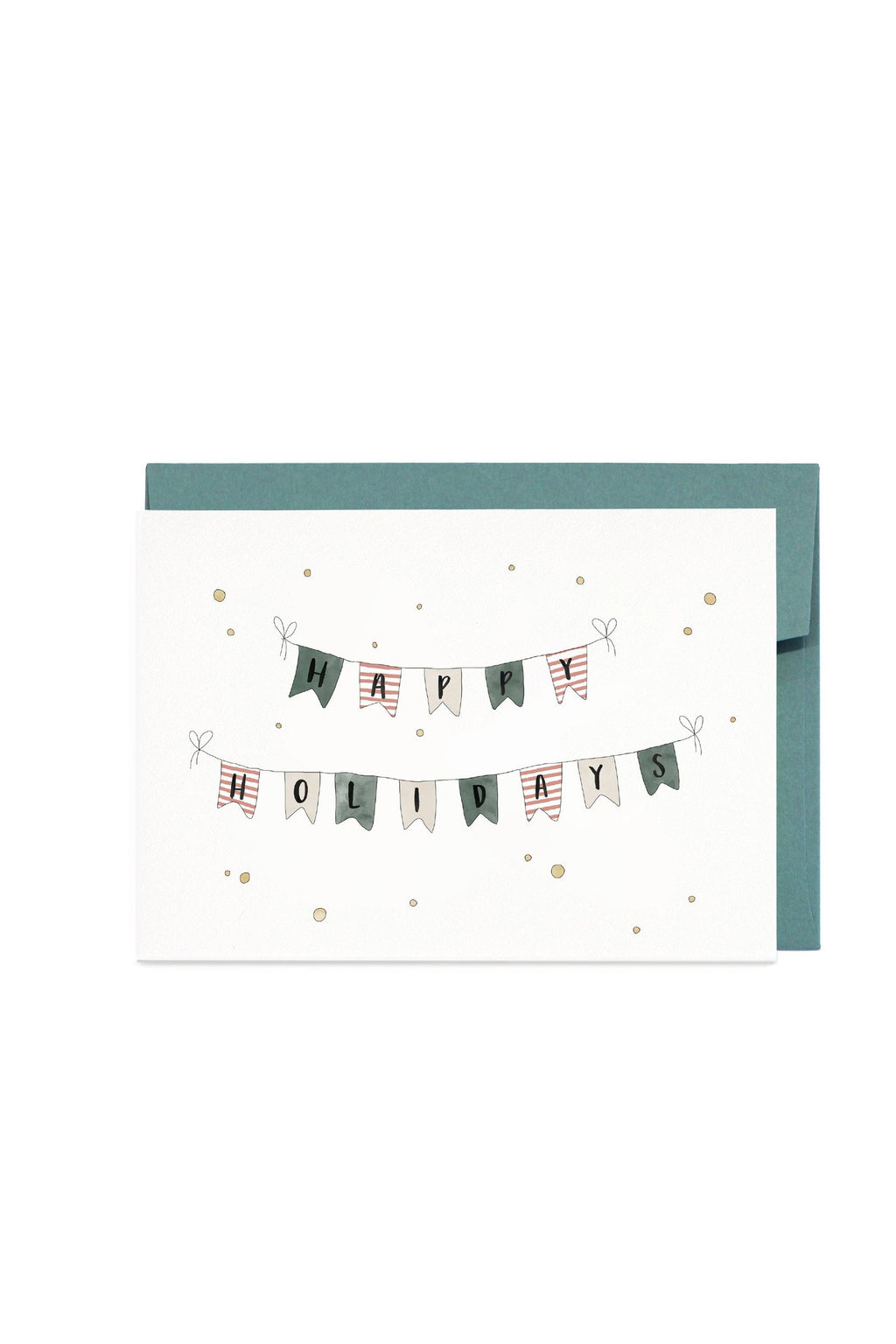 IN THE DAYLIGHT - HAPPY HOLIDAY BUNTING - GREETING CARD - Tempted Kensington