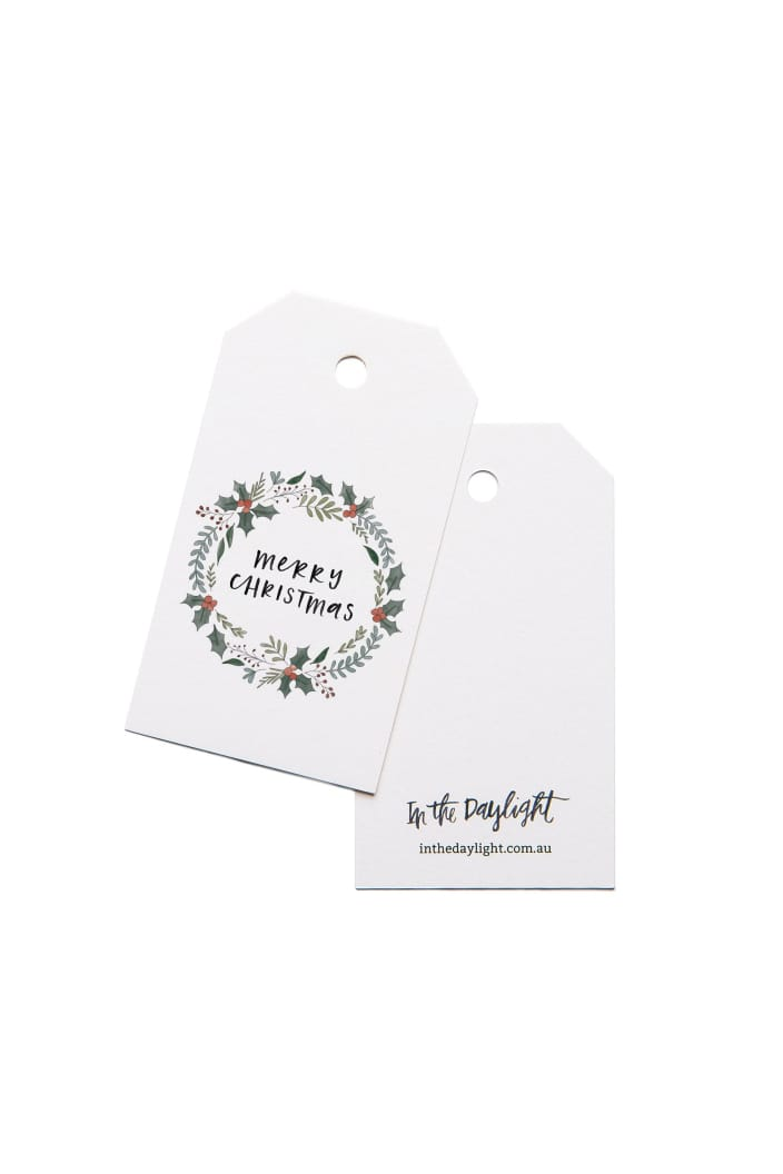IN THE DAYLIGHT - CHRISTMAS WREATH - GIFT TAG - SET OF 5 - Tempted Kensington