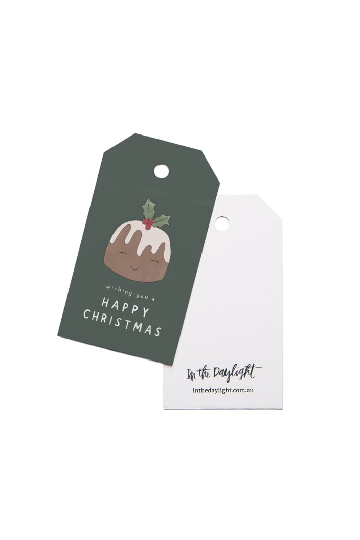 IN THE DAYLIGHT - CHRISTMAS PUDDING - GIFT TAG - SET OF 5 - Tempted Kensington