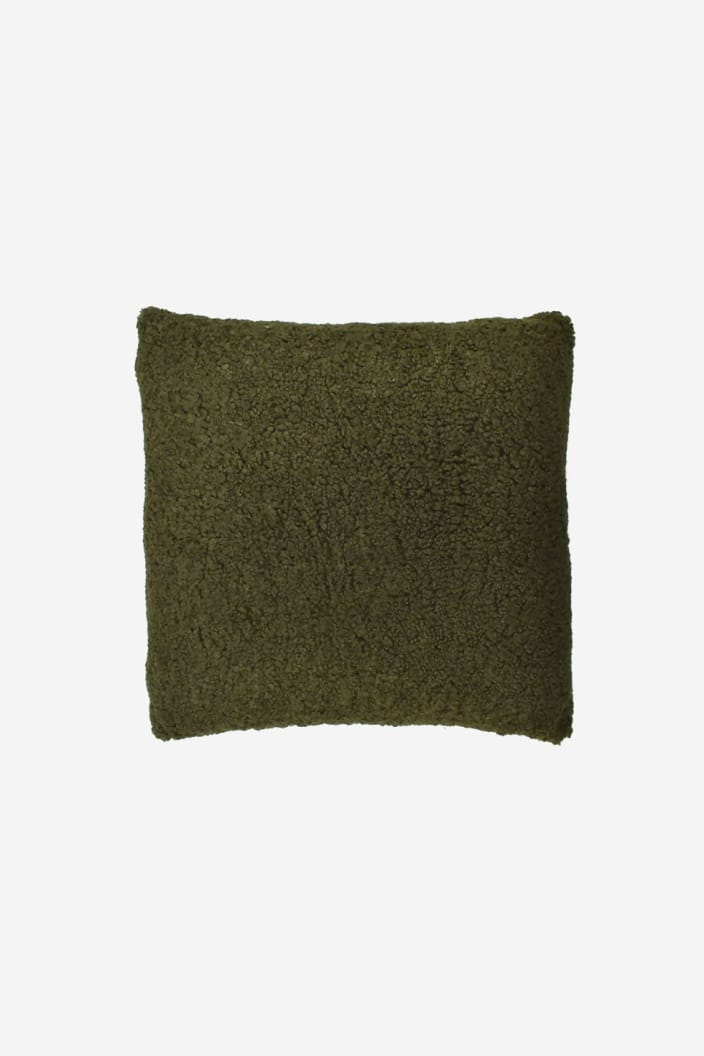 CASA - JUMBUCK WOOL CUSHION - OLIVE - Tempted Kensington