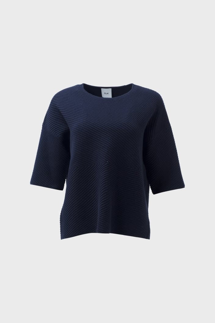 ELK THE LABEL - GLENNA KNIT SWEATER - INK - Tempted Kensington