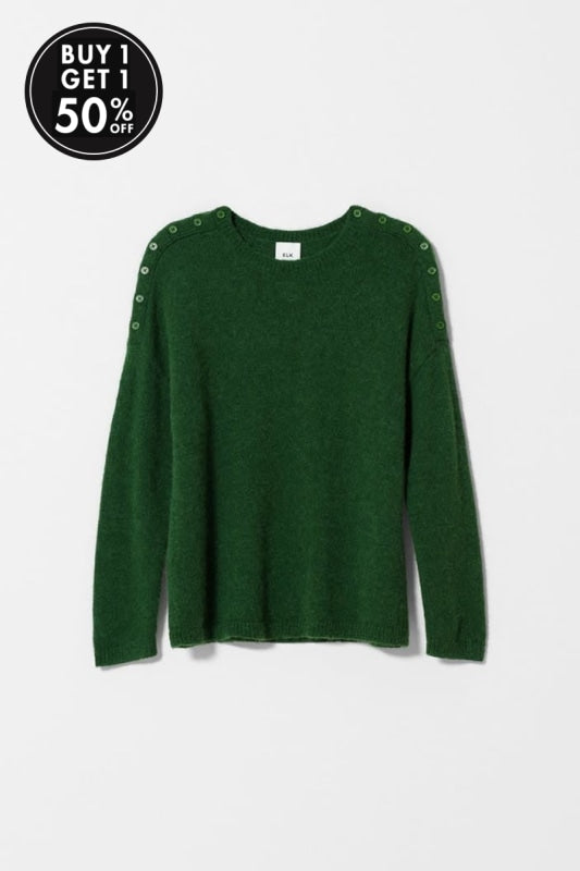 ELK THE LABEL - CARITA SWEATER - GREEN - Tempted Kensington