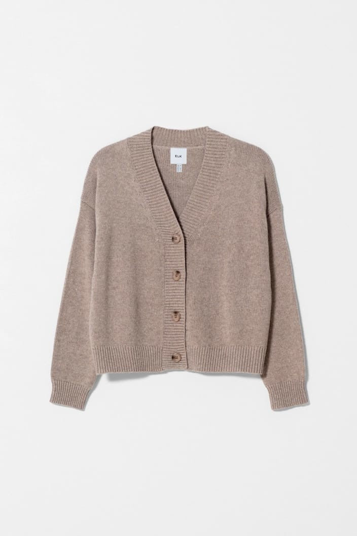 ELK THE LABEL - ADEN CARDIGAN - OATMEAL - Tempted Kensington
