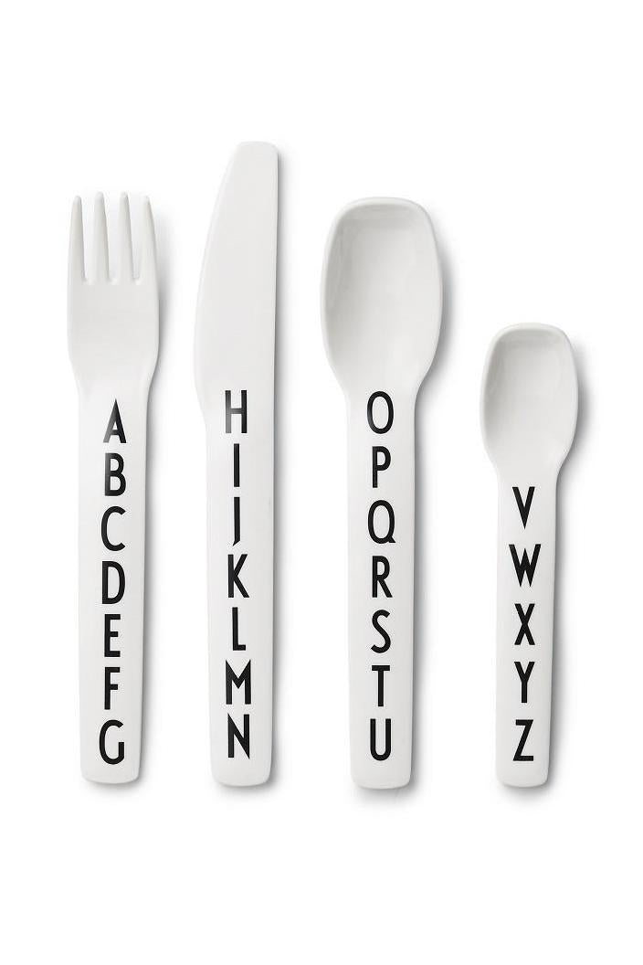 DESIGN LETTERS - KIDS CUTLERY SET - WHITE - ARNE JACOBSEN - Tempted Kensington