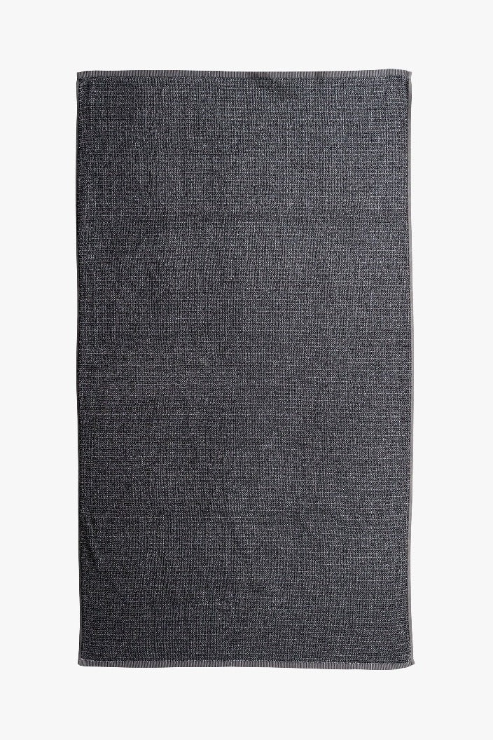 L & M HOME - TWEED BATH TOWEL - COAL