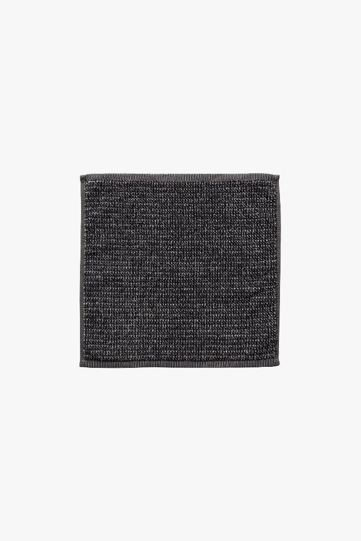 L & M HOME - TWEED FACE TOWEL - COAL