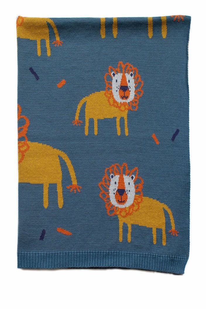 INDUS - BABY BLANKET - LEROY THE LION - Tempted Kensington
