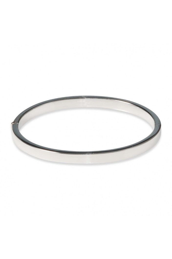 M.C - BANGLE - FLAT OVAL - 5X60MM - STERLING SILVER - Tempted Kensington