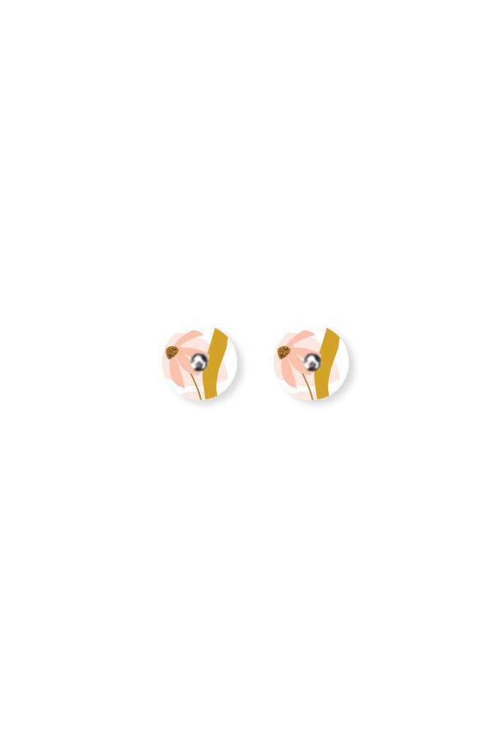 MOE MOE - MARGUERITE BLOOM - MINI CIRCLE STUD EARRINGS