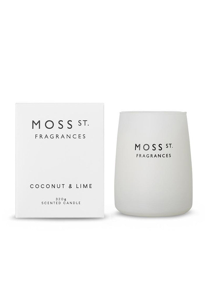 MOSS ST FRAGRANCES - COCONUT & LIME 320G CANDLE