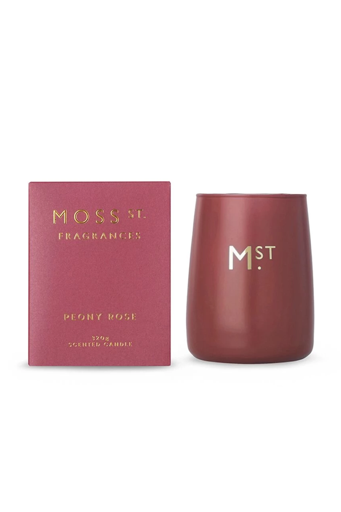 MOSS ST FRAGRANCES - PEONY ROSE 320G CANDLE