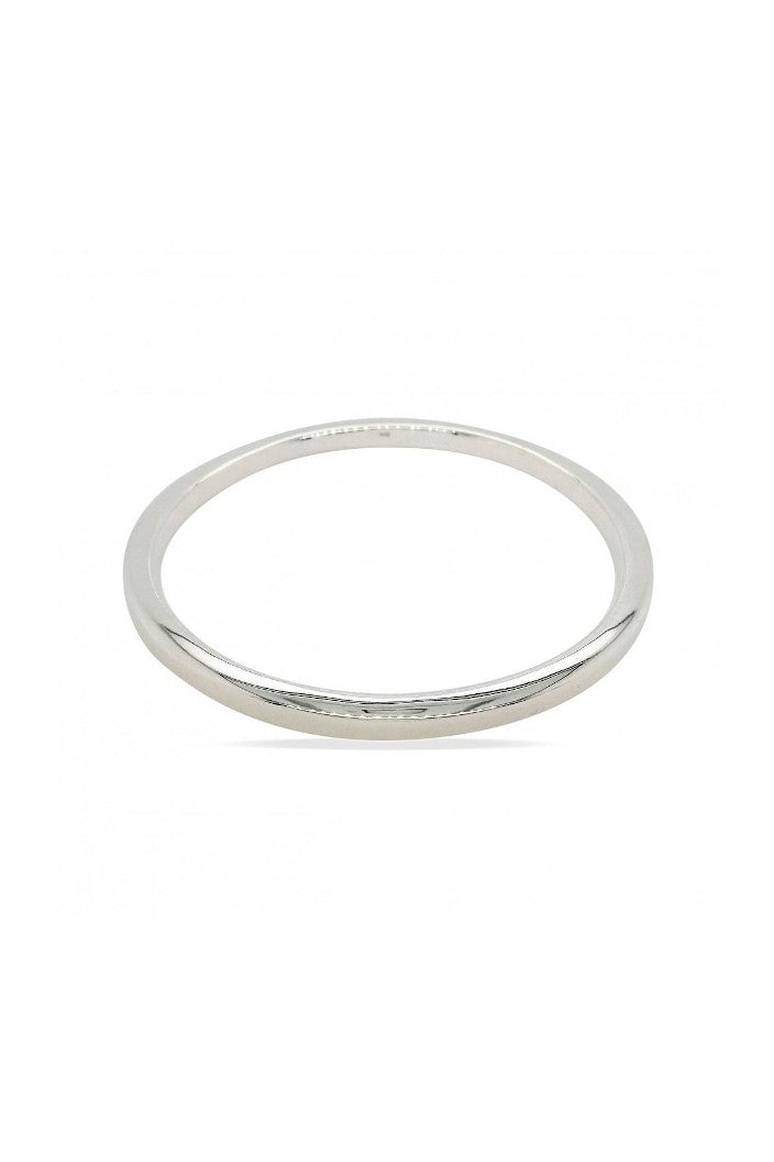 MOUNTAIN CREEK - SQUARE EDGE BANGLE - 4X63MM - STERLING SILVER