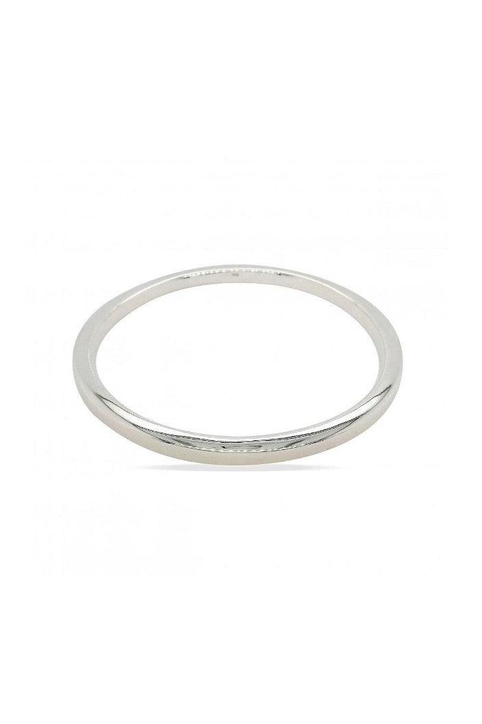 MOUNTAIN CREEK - SQUARE EDGE BANGLE - 4X65MM - STERLING SILVER