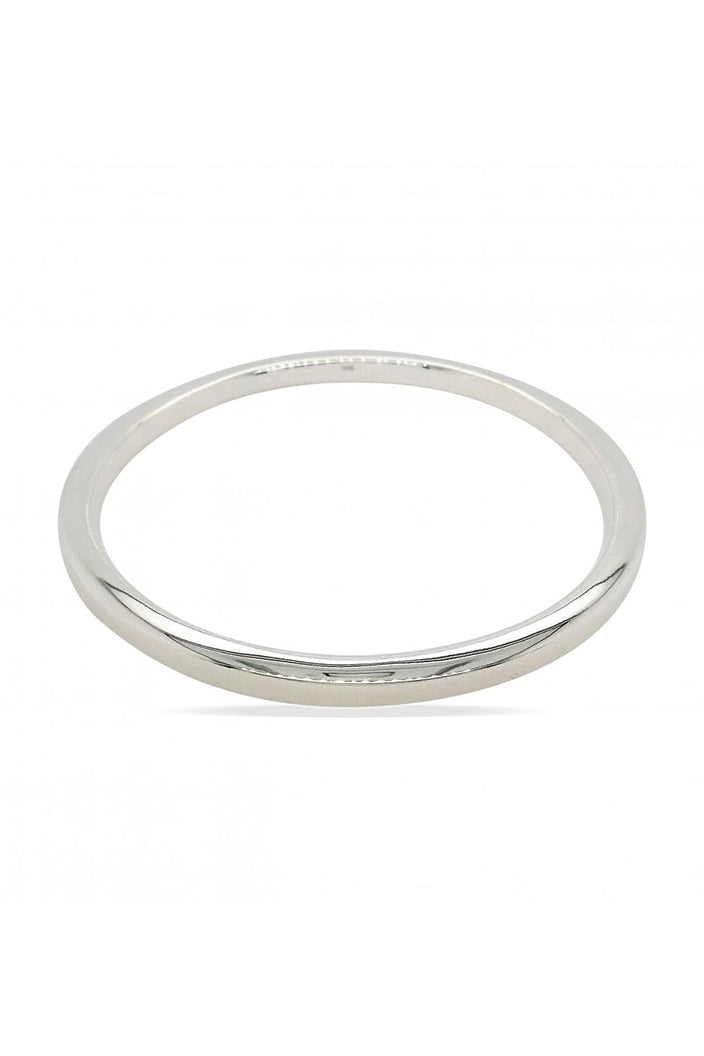 MOUNTAIN CREEK - SQUARE EDGE BANGLE - 4X60MM - STERLING SILVER