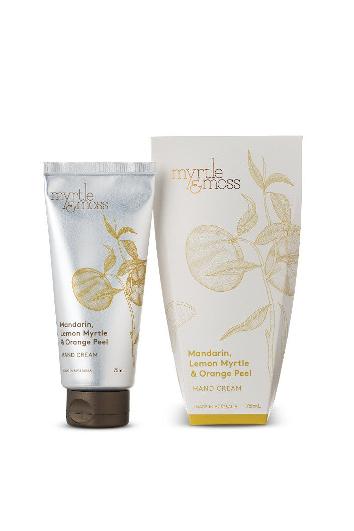 MYRTLE & MOSS - HAND CREAM - MANDARIN, LEMON MYRTLE & ORANGE PEEL - 75ML