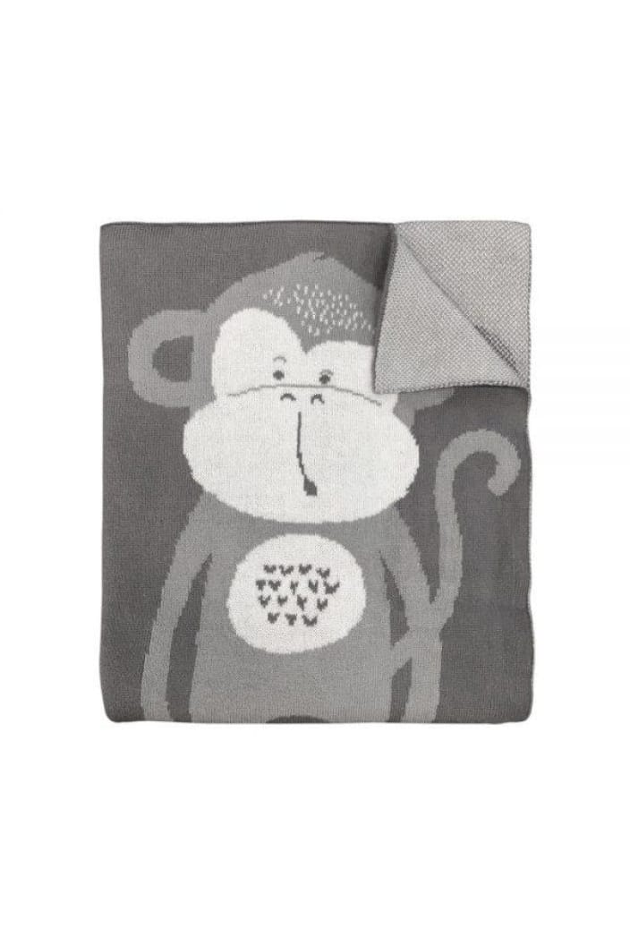 MISTER FLY - KNITTED BLANKET - MONKEY - Tempted Kensington