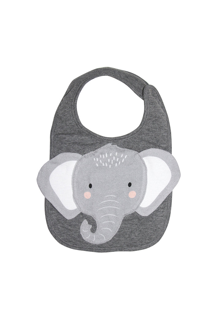 MISTER FLY - BIB - ELEPHANT - GREY - Tempted Kensington