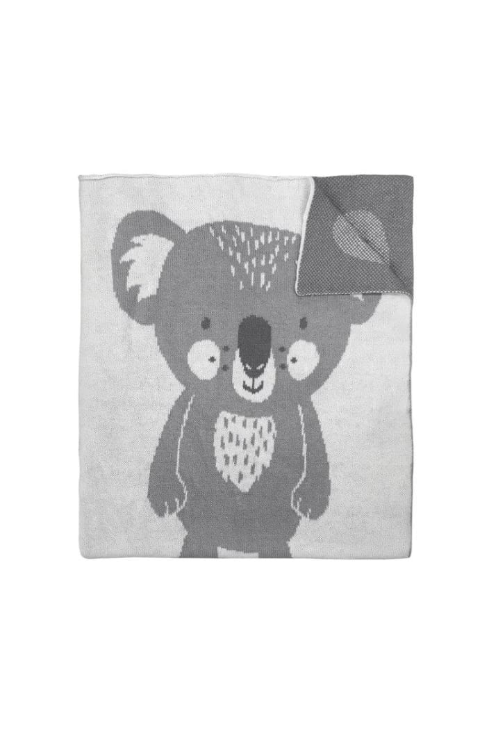 MISTER FLY - KNITTED BLANKET - KOALA - Tempted Kensington