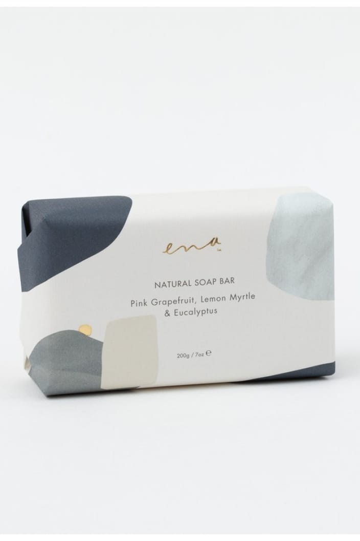 ENA PRODUCTS - SOAP BAR - NATURAL - PINK GRAPEFRUIT, LEMON MYRTLE & EUCALYPTUS - Tempted Kensington