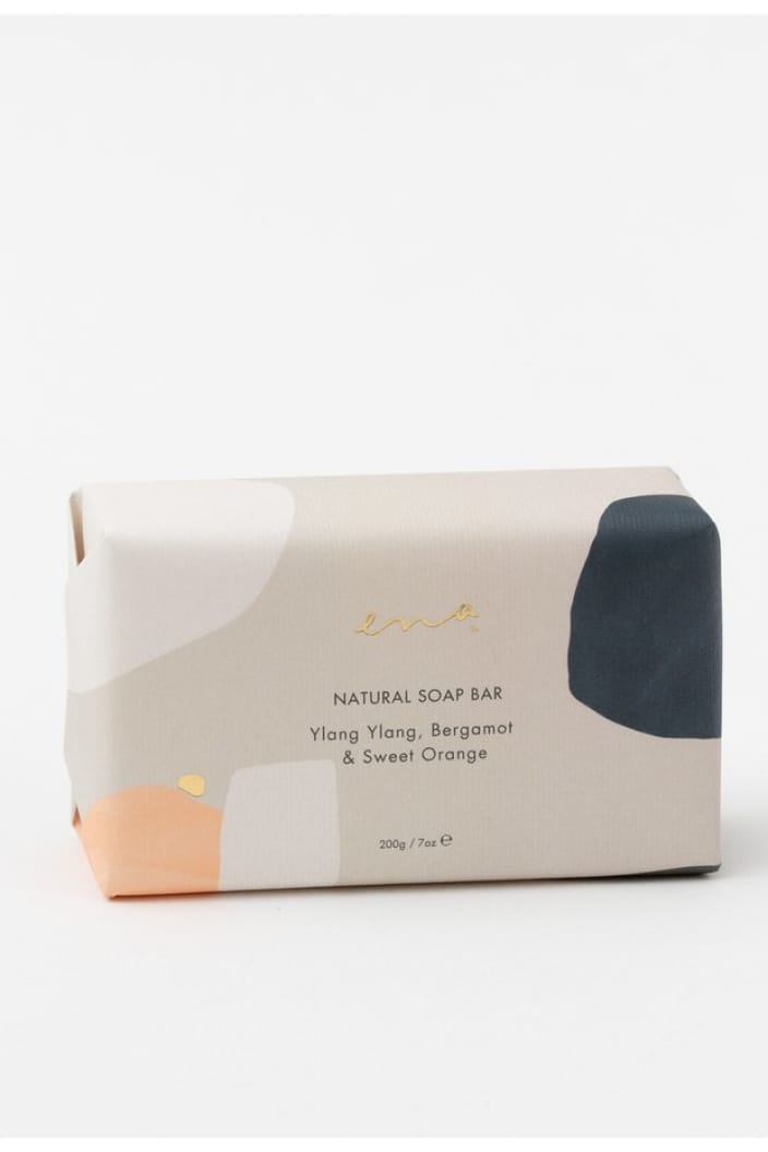ENA PRODUCTS - SOAP BAR - NATURAL - YLANG YLANG, BERGAMOT & SWEET ORANGE - Tempted Kensington