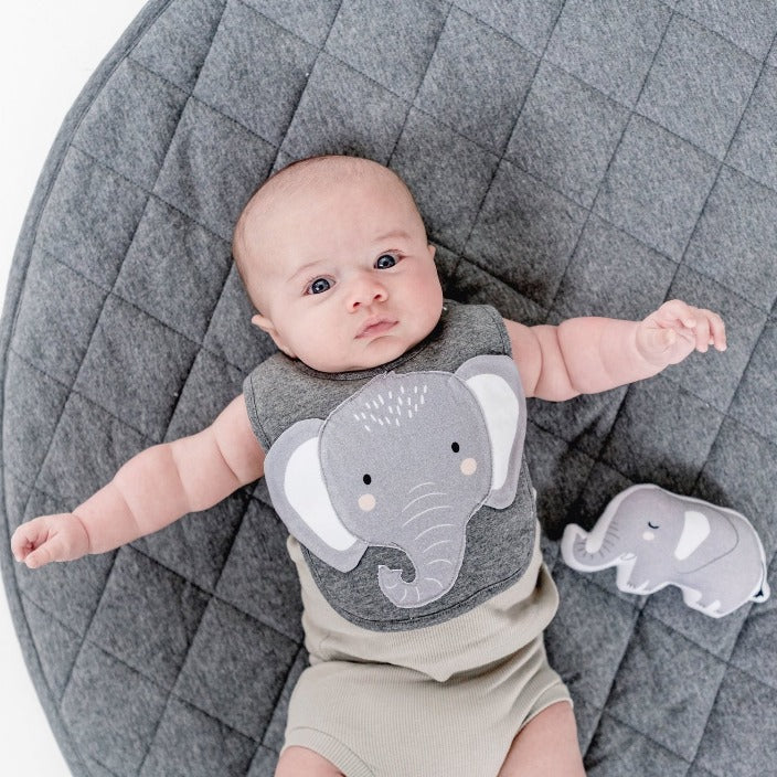 MISTER FLY - ELEPHANT BIB - GREY-Tempted Kensington-Tempted Kensington