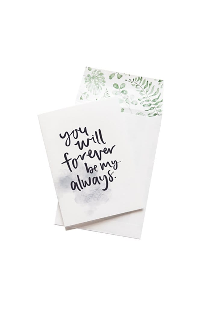 EMMA KATE CO. - FOREVER MY ALWAYS - GREETING CARD