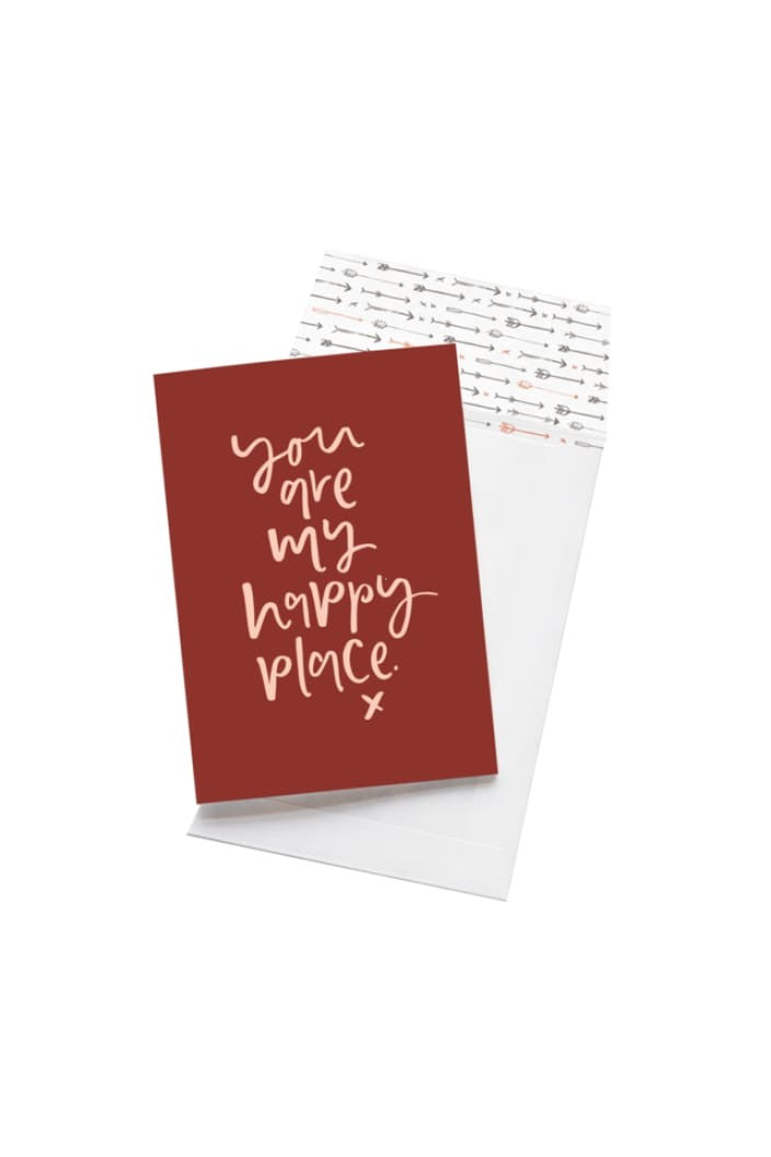 EMMA KATE CO. - YOU ARE MY HAPPY PLACE - GREETING CARD - Tempted Kensington