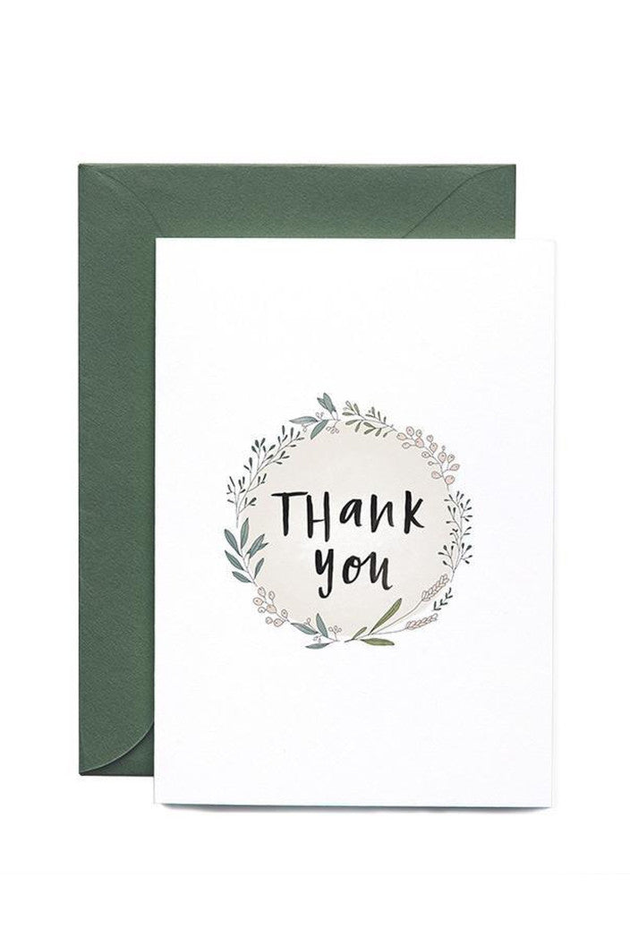 IN THE DAYLIGHT - WREATH THANK YOU - GREETING CARD - Tempted Kensington