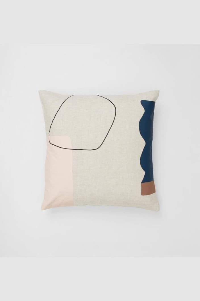 WARRANBROOKE - ARLES SQUARE CUSHION - 50X50CM - TOFFEE - Tempted Kensington