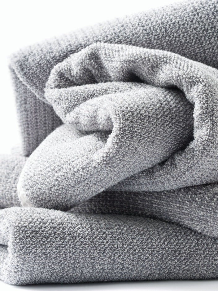 L & M HOME - TWEED BATH TOWEL - GREY - Tempted Kensington
