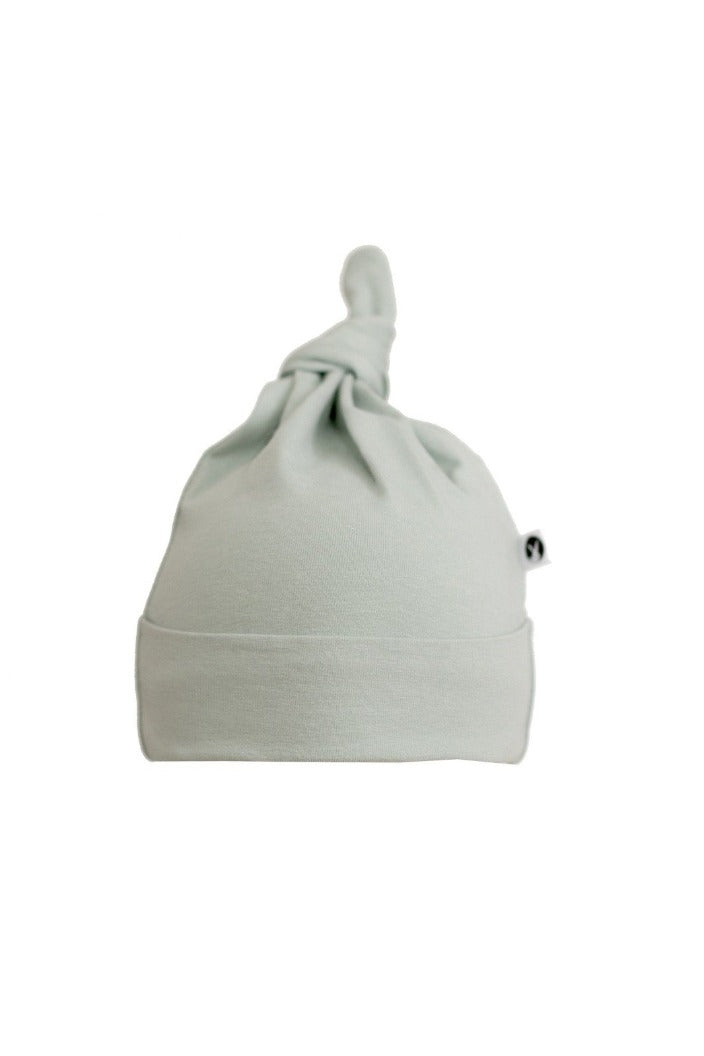 BURROW & BE - TOP KNOT HAT - MIST-Tempted Kensington-0-3 MONTHS-Tempted Kensington