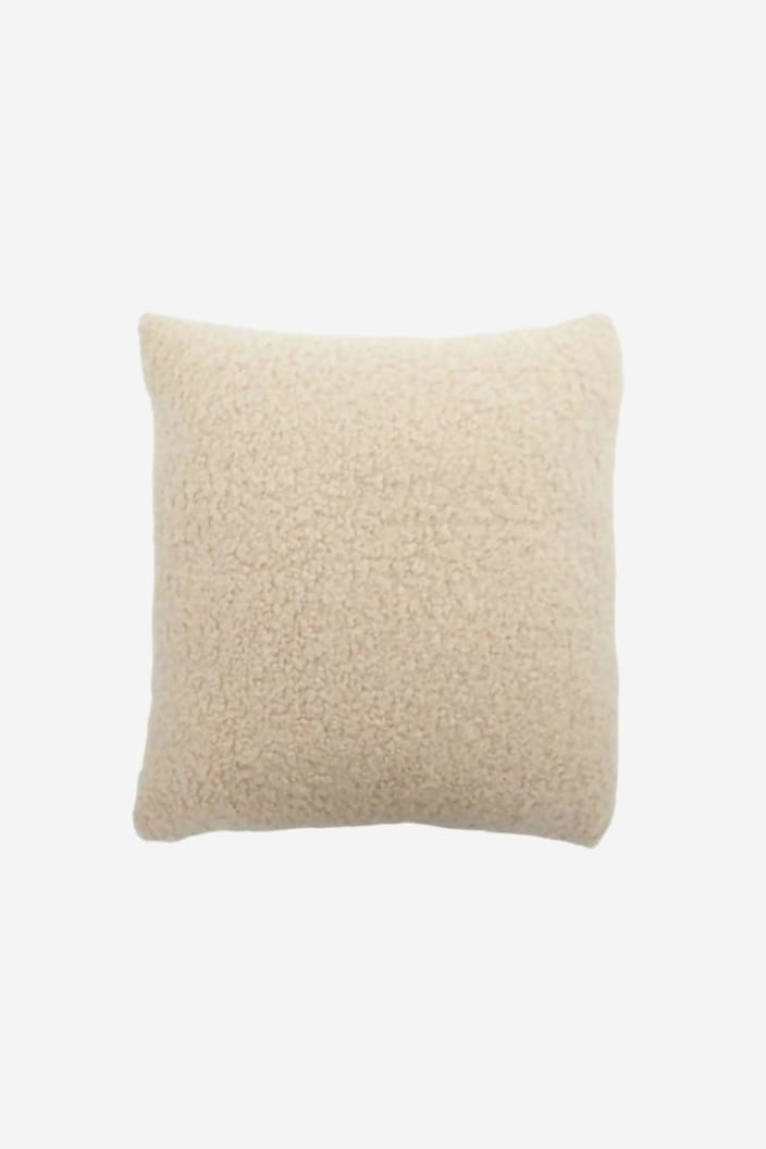 CASA - JUMBUCK WOOL CUSHION - BEIGE - Tempted Kensington