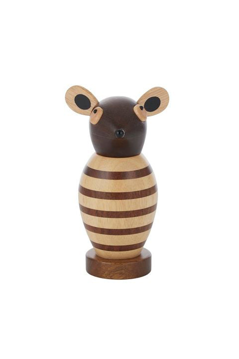 CASA - WOOD PEPPER MILL - MAE MOUSE - NATURAL - Tempted Kensington
