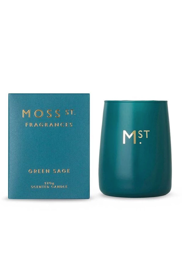 MOSS ST FRAGRANCES - GREEN SAGE 320G CANDLE