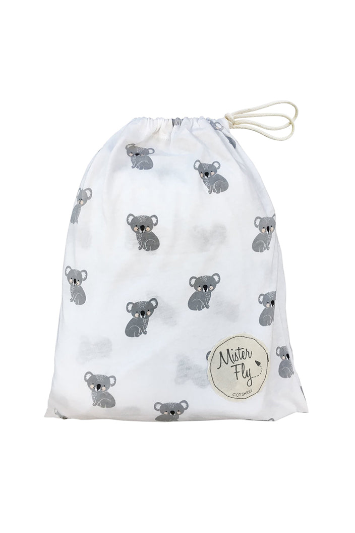 MISTER FLY - KOALA JERSEY COT SHEETS - Tempted Kensington