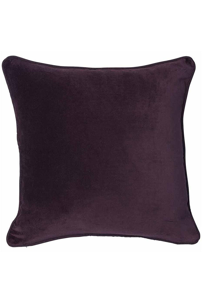 LYNETTE CUSHION - 50X50CM - BURGUNDY