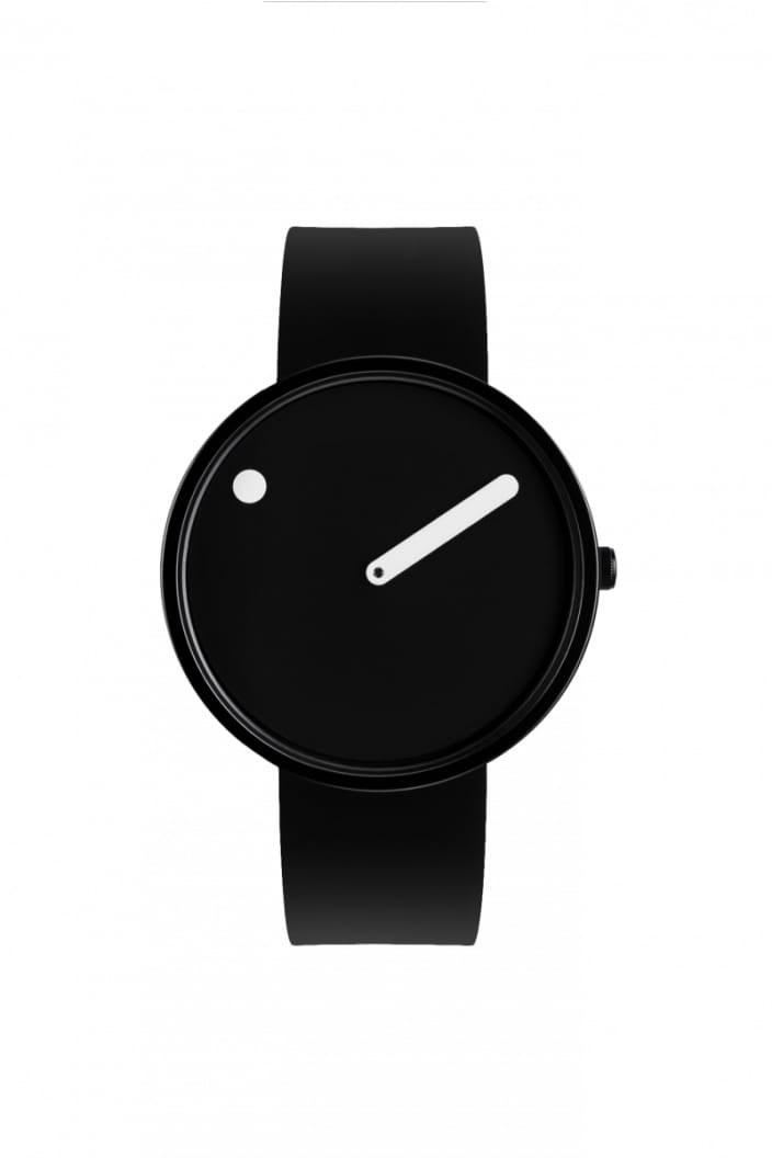 PICTO - WATCH 40MM BLACK FACE WITH BLACK SILICONE BAND - Tempted Kensington