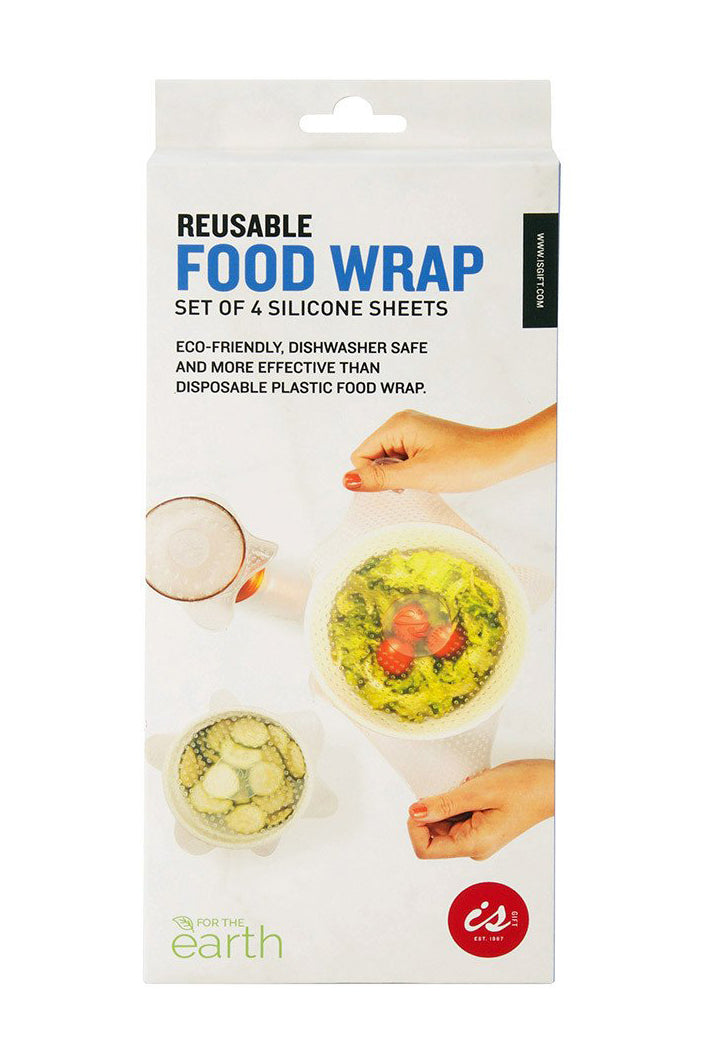 I.S - REUSABLE FOOD WRAP - SILICONE - SET OF 4 - Tempted Kensington