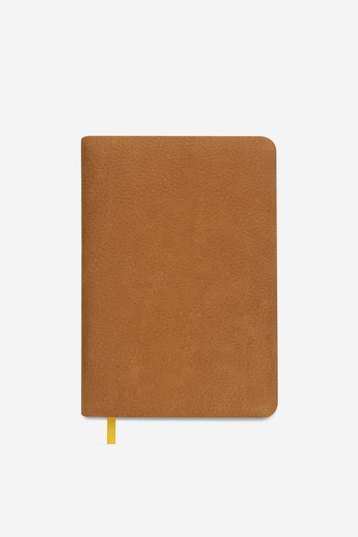 STATUS ANXIETY - PAST LIFE NOTEBOOK LINED - TAN - Tempted Kensington