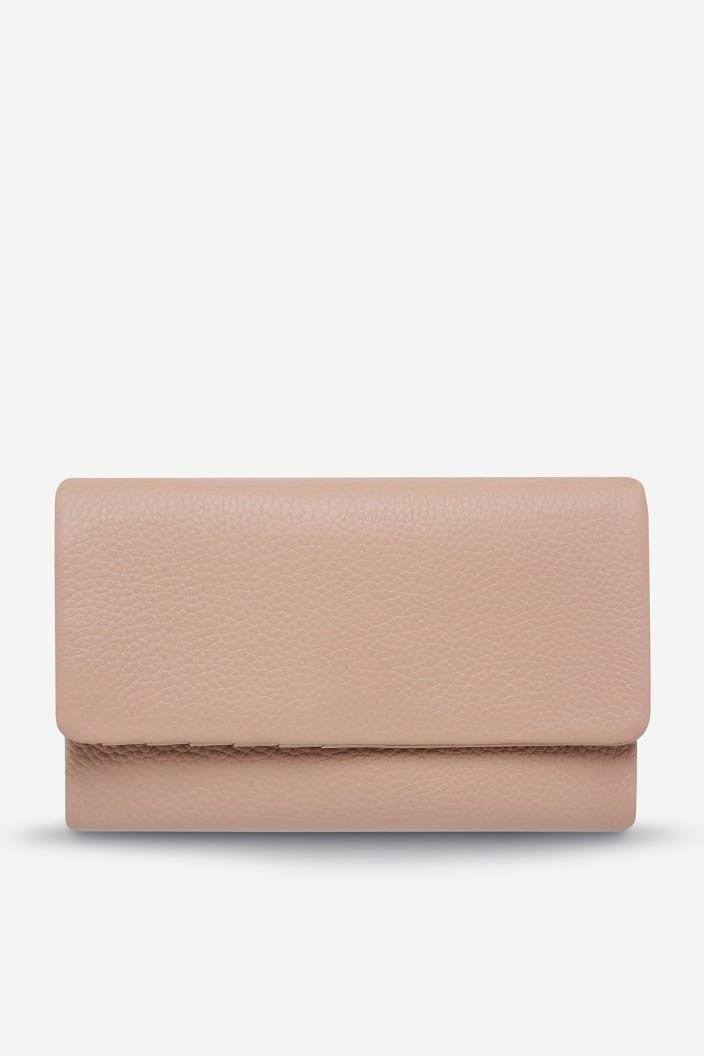 STATUS ANXIETY - AUDREY WALLET - DUSTY PINK PEBBLE - Tempted Kensington