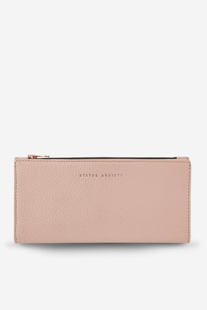 STATUS ANXIETY - IN THE BEGINNING WALLET - DUSTY PINK - Tempted Kensington