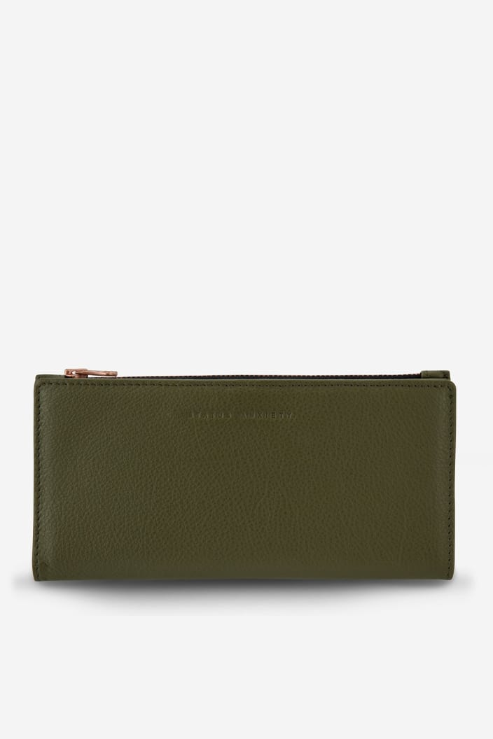 STATUS ANXIETY - IN THE BEGINNING WALLET - KHAKI - Tempted Kensington