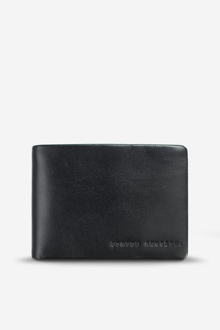 STATUS ANXIETY - JONAH WALLET - BLACK - Tempted Kensington