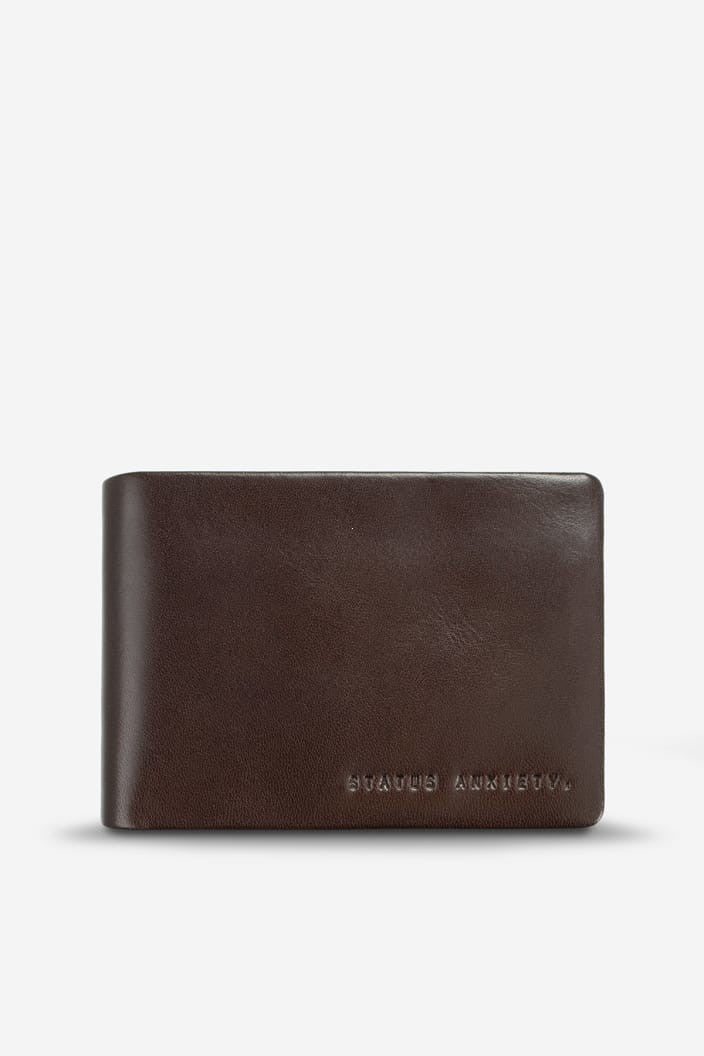 STATUS ANXIETY - JONAH WALLET - CHOCOLATE - Tempted Kensington