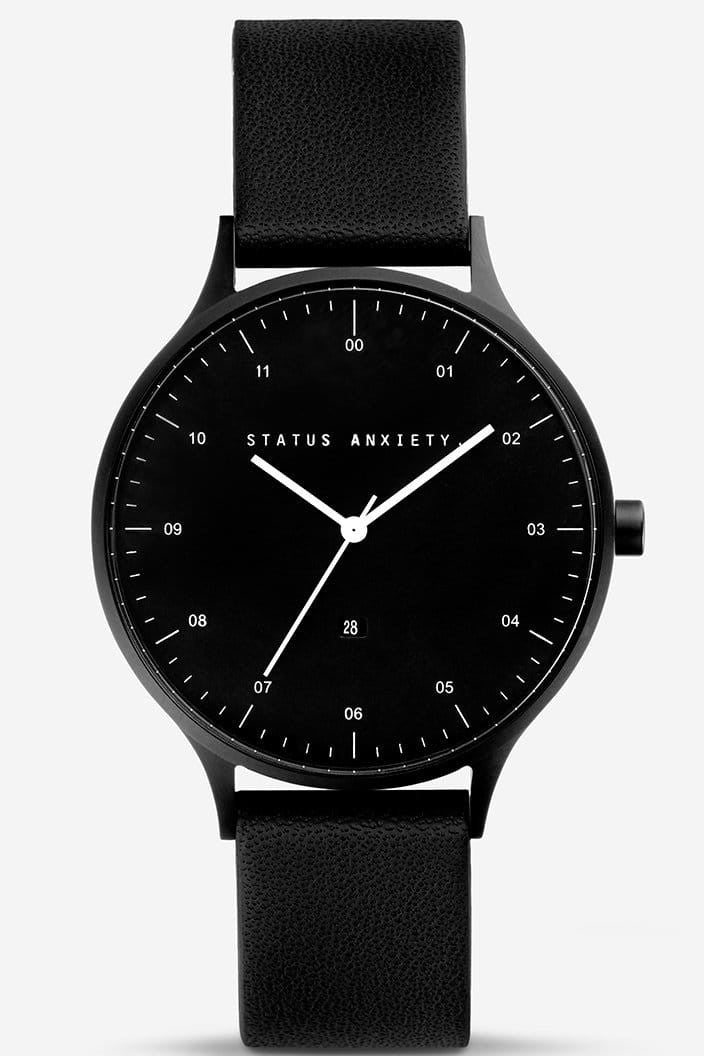 STATUS ANXIETY - INERTIA WATCH - MATTE BLACK AND BLACK FACE WITH BLACK STRAP - Tempted Kensington