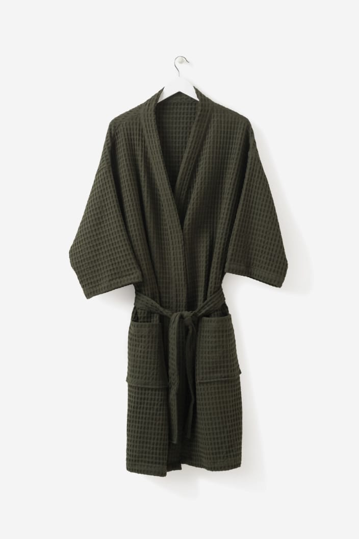 CITTA - BATHROBE - WAFFLE ORGANIC COTTON - NORI - Tempted Kensington