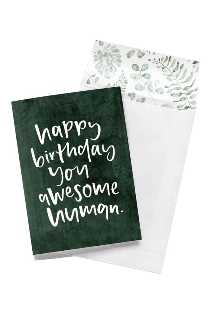 EMMA KATE CO. - HAPPY BIRTHDAY YOU AWESOME HUMAN GREETING CARD - Tempted Kensington